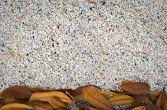 Um fim acima de rochas minúsculas, granito esmagado, textura do cascalho do seixo Foto de Stock Royalty Free