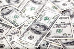Cem fundos das notas de dólar - confusão Foto de Stock Royalty Free