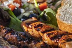 Um fim saboroso e saudável da refeição acima fotografia de stock royalty free