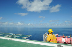 Um fireguard a pouca distância do mar Fotografia de Stock
