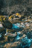 Um fluxo efervescente do rio fotografia de stock royalty free