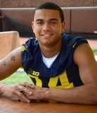 UM football player 14 Drake Harris Stock Photography