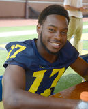 UM football player 17 Freddy Canteen Royalty Free Stock Image