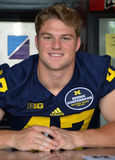 UM football player 47 Jake Ryan Stock Photo