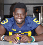 UM football player 53 Mario Ojemudia Royalty Free Stock Images