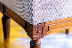 Um fragmento da cadeira do sofá, textura da tela para martelar o furni imagem de stock royalty free
