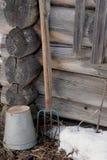 Um fragmento da casa velha Fotos de Stock