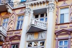 Um fragmento da fachada velha Foto de Stock Royalty Free
