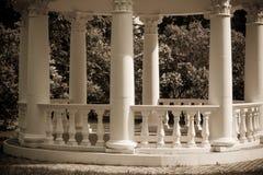 Um fragmento de um miradouro em um parque de florescência da mola Imagem de Stock Royalty Free