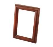 Um frame de madeira marrom Imagem de Stock Royalty Free