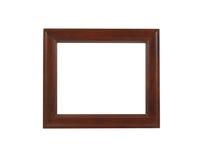 Um frame de retrato marrom, isolado com trajeto de grampeamento Fotos de Stock