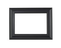Um frame de retrato preto, isolado com trajeto de grampeamento Fotos de Stock Royalty Free