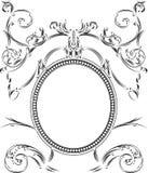 Um frame ornamentado real do vintage da cor ilustração royalty free