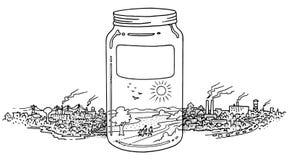 Um frasco completamente no ambiente limpo Fotografia de Stock
