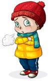 Um frio de sentimento do bebê caucasiano ilustração stock