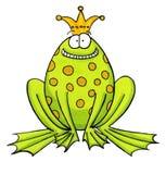 Um Frogking feliz que espera para ser beijado Fotografia de Stock Royalty Free