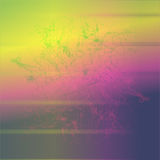 Um fundo atmosférico do arco-íris com fractal ilustração stock