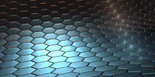 Um fundo azul da escala do dragão Fotografia de Stock Royalty Free