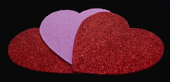 Um fundo do dia do ` s do Valentim com corações foto de stock