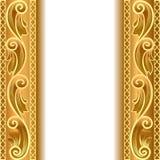 Um fundo do ouro com uma tira com um ouro ilustração royalty free
