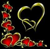 Um fundo dos Valentim Imagens de Stock