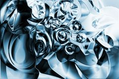 Um fundo líquido do metal do cromo ilustração royalty free
