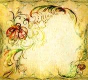 Um fundo original é os elementos desenhados ilustração stock
