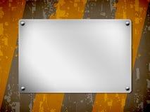 Um fundo, placa do metal, textura ilustração stock