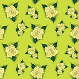 Um fundo sem emenda com rosas ilustração royalty free