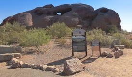 Um furo no tiro da rocha, Phoenix Fotos de Stock Royalty Free