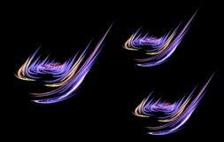 Um gás e uma queimadura do fractal ilustração stock