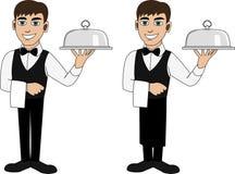 Um garçom em um laço Fotografia de Stock Royalty Free