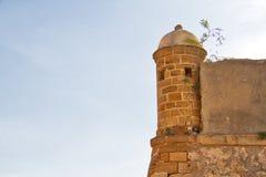 Um Garitas na cidade de Spainsh de Cadiz imagem de stock