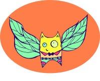 Um gato com asas Fotografia de Stock Royalty Free