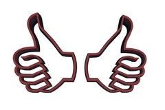 Um gesto recomendável ilustração royalty free