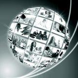 Um globo é executivos Imagens de Stock Royalty Free