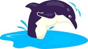 Um golfinho de salto ilustração stock