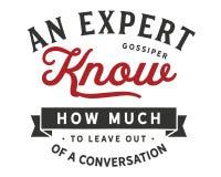 Um gossiper perito conhece quanto para sair fora de uma conversação ilustração royalty free