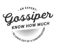 Um gossiper perito conhece quanto para sair fora de uma conversação ilustração stock
