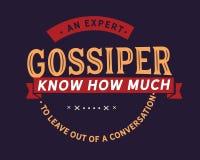 Um gossiper perito conhece quanto para sair fora de uma conversação ilustração do vetor