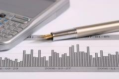 Um gráfico Imagens de Stock