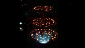 Um grampo para o festival de Diwali do hindu de luzes Ideal para cumprimentos ilustração royalty free