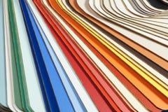 Um grande close-up em uma máquina desbastadora da cor, um molde estratificado foto de stock royalty free