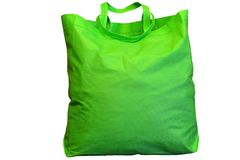 Um grande saco de compras verde Imagens de Stock