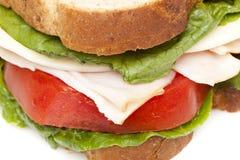 Um grande sanduíche de peru Imagens de Stock