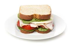 Um grande sanduíche de peru Imagens de Stock Royalty Free