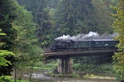Um grande trem de trabalho velho do vapor Foto de Stock