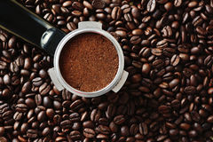 Um grouphead alterado da máquina de café Imagem de Stock Royalty Free