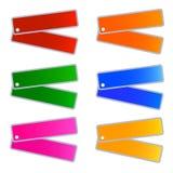 Um grupo da ilustração de etiquetas das cores de Muti Fotografia de Stock Royalty Free