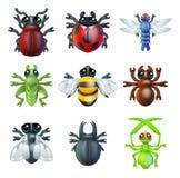 Ícones do erro do inseto Imagem de Stock Royalty Free